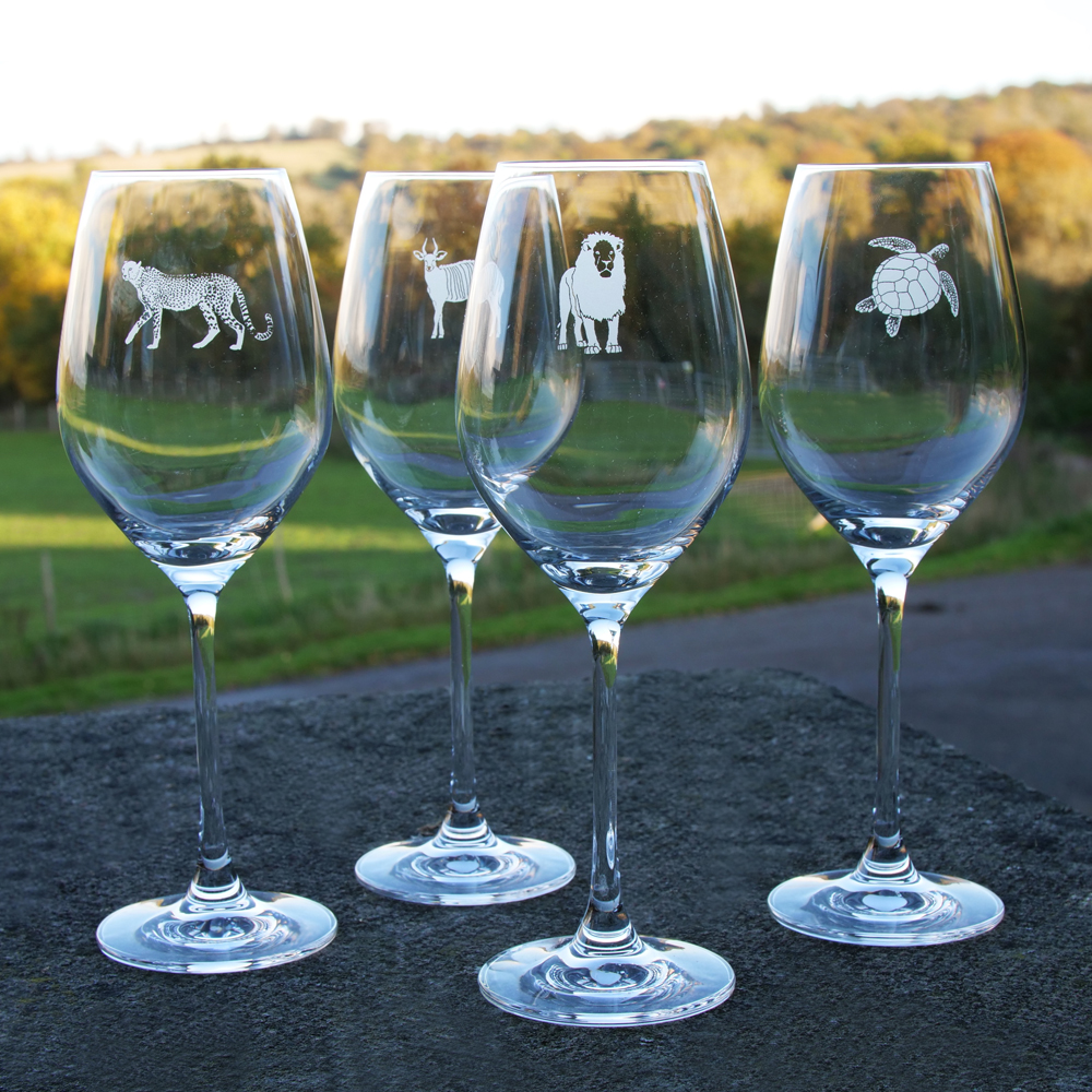 Tusk Conservation Wine Glasses