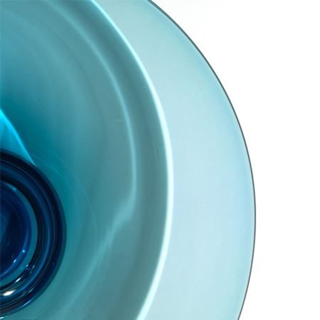 Aqua Blue Fruit Bowl