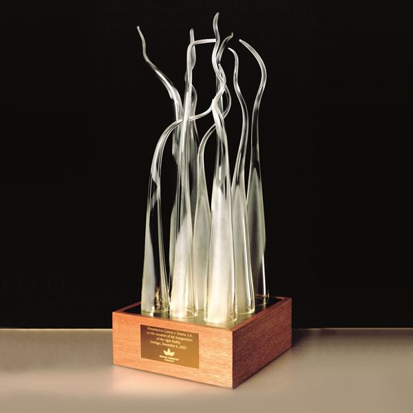 BAT Handmade Glass Presentation Piece