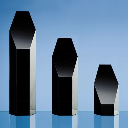 Black Crystal Hexagonal Tower