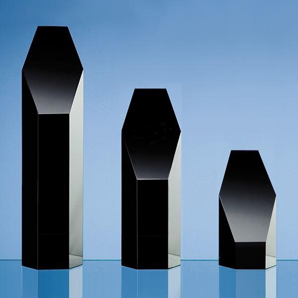 Black Crystal Hexagonal Tower