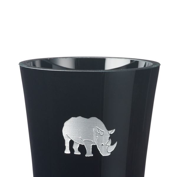 Black Crystal Rhino Vase