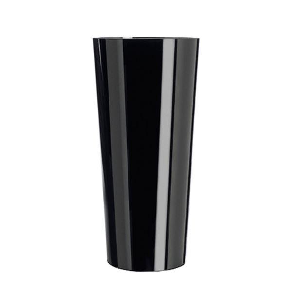Black Crystal Straight Sided Vase