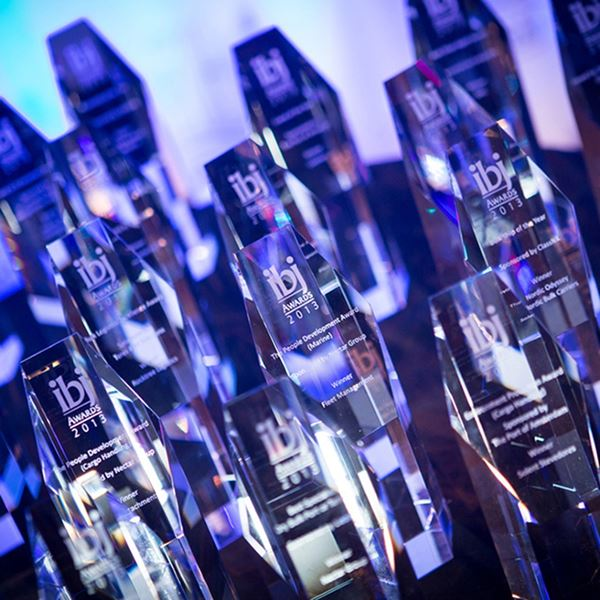 Clear Crystal Hexagonal Tower Awards