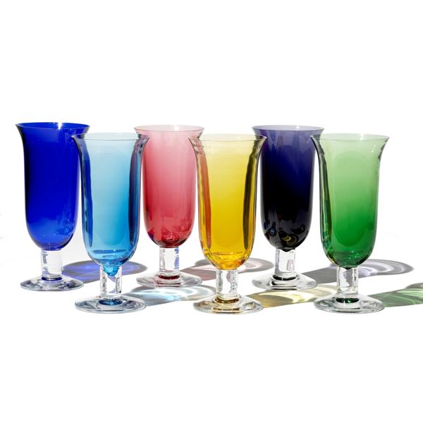Coloured Crystal Vases