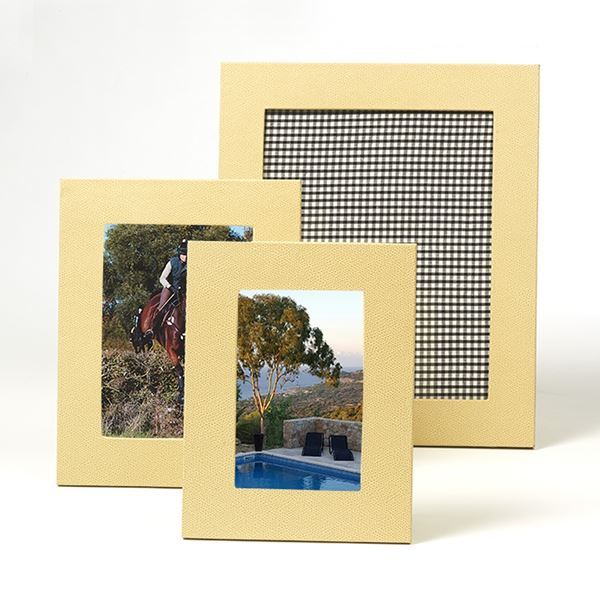 Cream Leather Photograph Frame