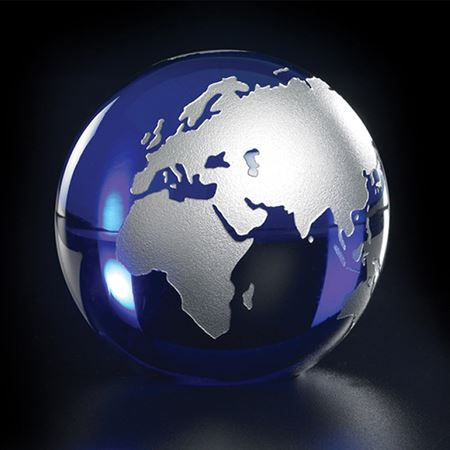 Crystal Gold or Silver Infilled Globe