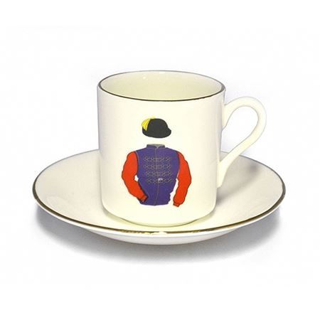 English Bone China Racing Colour Cup Set
