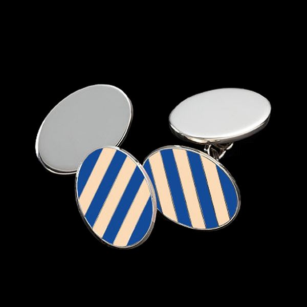 Eton College Manor House Sterling Silver Cufflinks