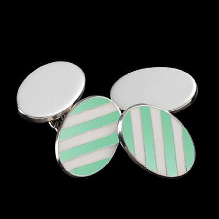 Eton College Sterling Silver & Enamel Cufflinks