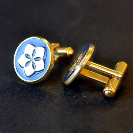 Gold Plated Wingback Cufflinks