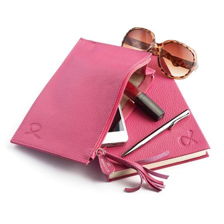Haven Trust Pink Leather Clutch