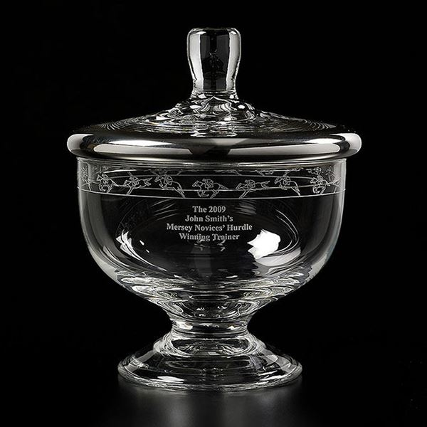 John Smith's Grand National large Crystal Sweet Jar with lid