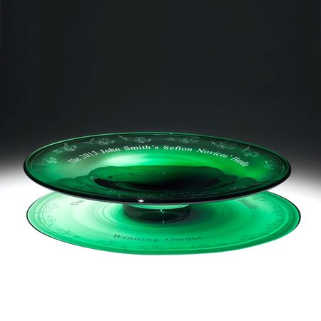 John Smith's Grand National large green Crystal Fruit Bowl Trophy