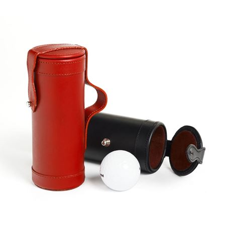 Leather and Suede Golf Ball Holder