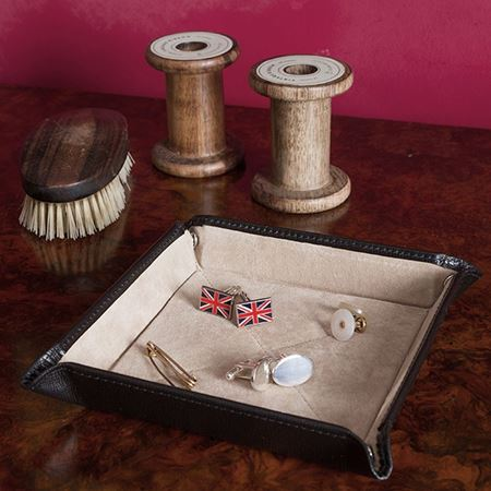 Leather and Suede Travel Tray