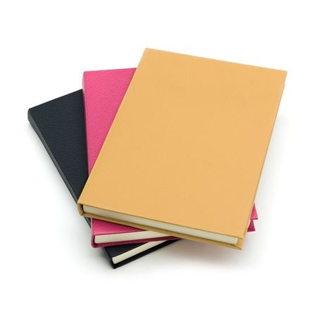 textured leather notebook