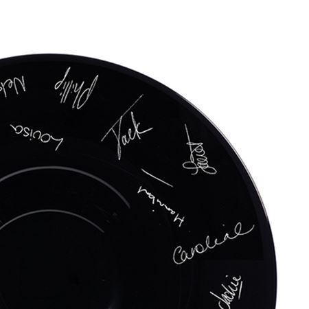 Personalised Black Centerpiece Bowl