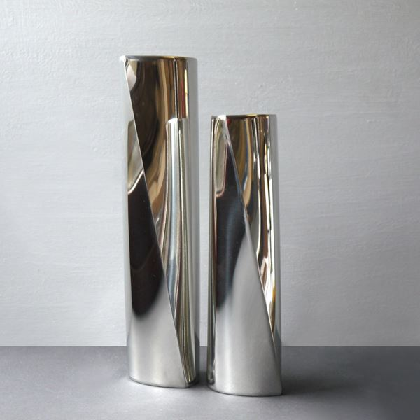 Polished Pewter Pirouette Tower