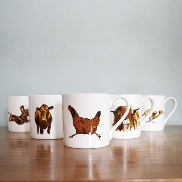 Set of 6 Inkerman Froghole Mugs