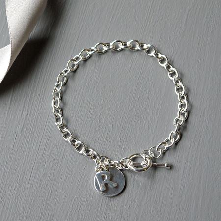 Silver Initial Charm Bracelet