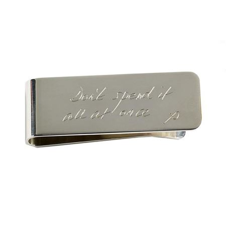 Silver plate money clip