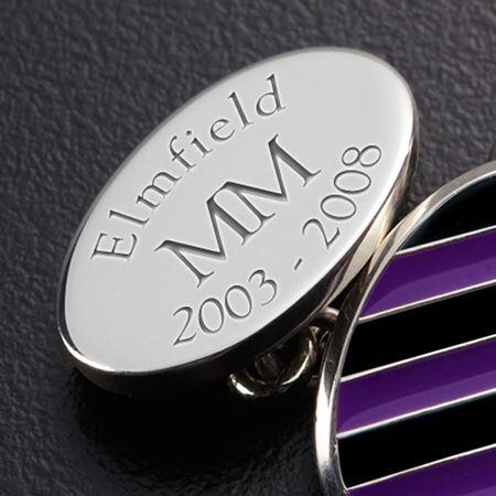 """Sterling Silver """"Elmfield"""" Cufflinks"""