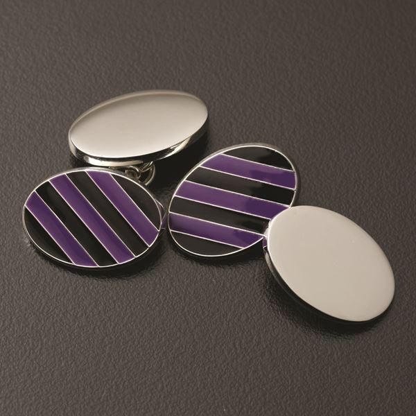 "Sterling Silver ""Elmfield"" Cufflinks"