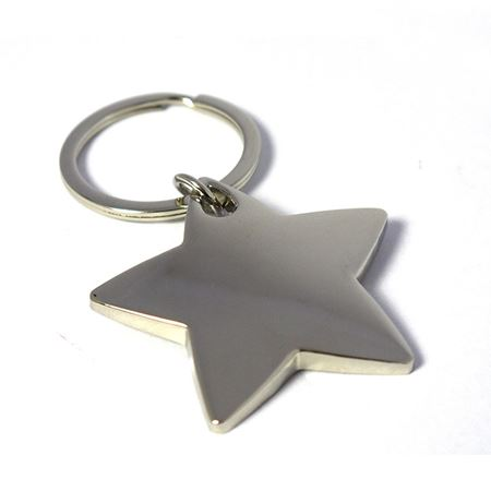 Nickel Plate Star Keyring