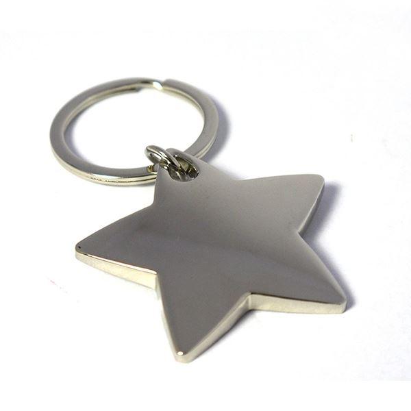 Nickel Plate Star Keyring