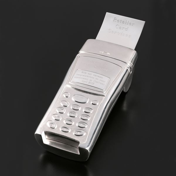 Sterling Silver Point of Sale Credit Card Machine