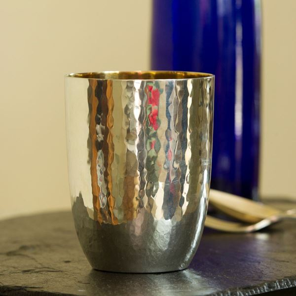 The Mayfair Pewter Tumbler with Gilt Interior