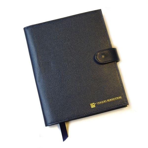 Customised Leather A5 portfolio