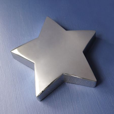 Silver plate star paperweight