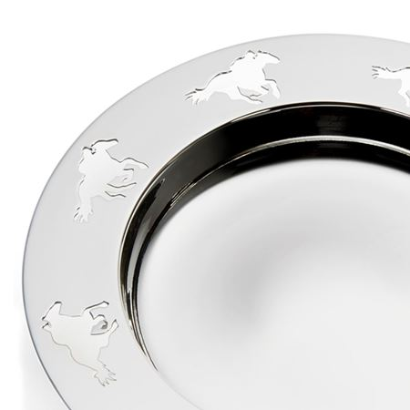 Silver Plate Racing Alms Dish