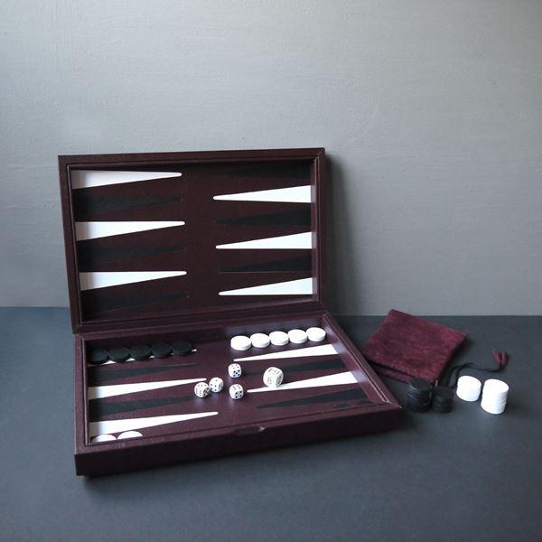 Leather Backgammon Board