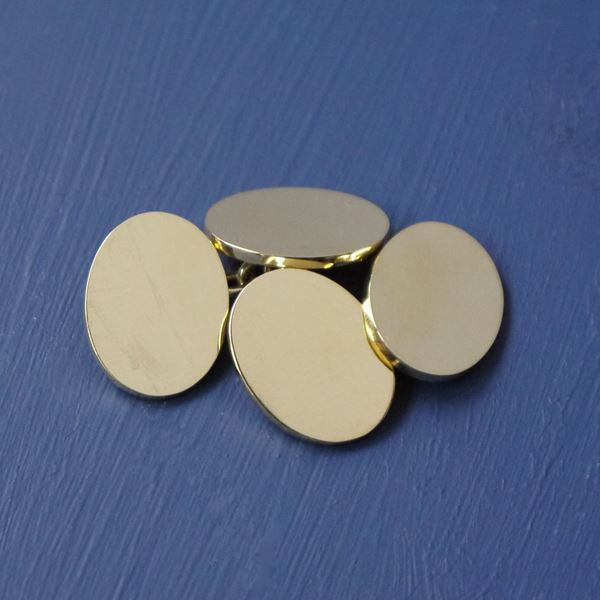 9ct Gold Oval Cufflinks