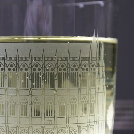 Lancing College Etched Glass Tumblers