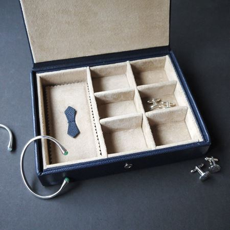 Leather Jewellery, Earring & Cufflink Box