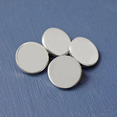 Sterling Silver Round Chainlink Cufflinks