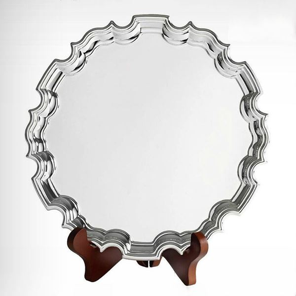 Silver Plate Chippendale Tray