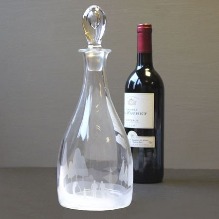 Golf scene decanter
