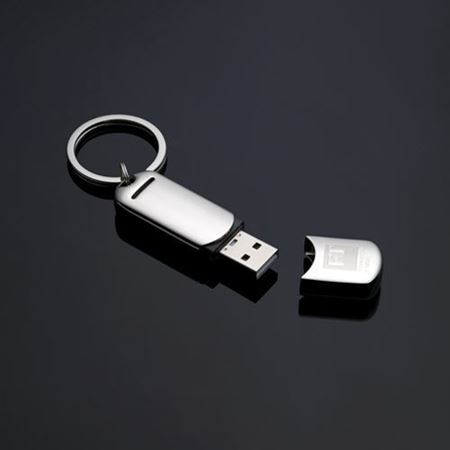 Nickel Plate USB Keyring