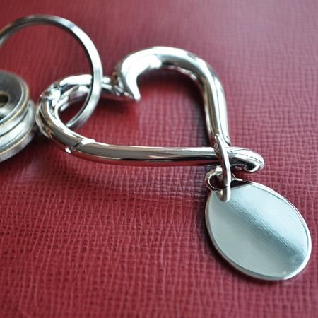 Silver Plated Heart Keyring