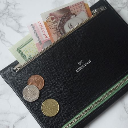 Leather Receipt Currency Wallet