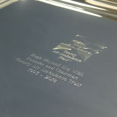 Silver Presentation Tray with Handles