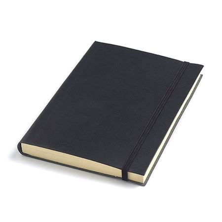 A6 Leather Notebooks with elastic fastener
