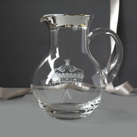 Silver Trim Water Jug