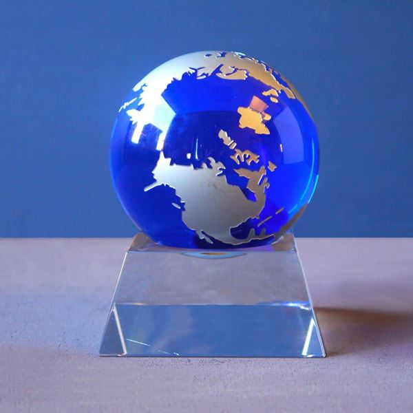 Crystal Globe on Plinth