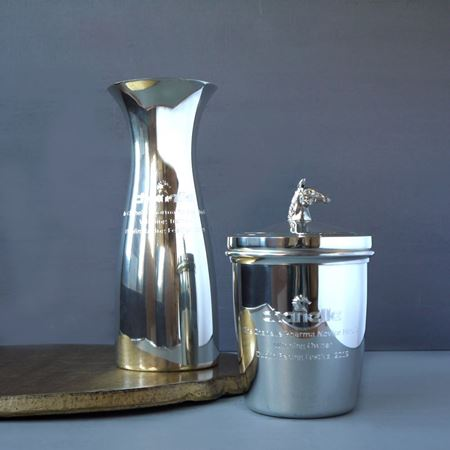 Pewter Ice Bucket and Carafe